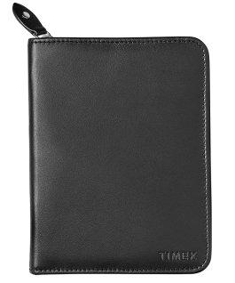Étui-pour-montres-en-cuir-noir-pour-2-montres-et-passeport Noir large