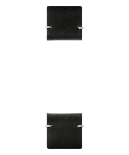 Black Leather 2-piece Strap  large