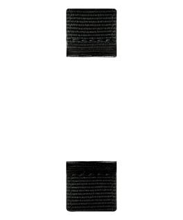 Zweiteiliges Armband aus schwarzem Nylon und Leder  large