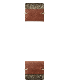 Brown Leather / Tan Felt 2-Piece Strap  large