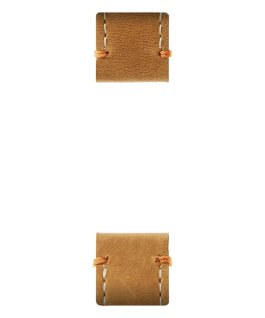 Tan Leather 2-piece Strap  large