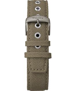 Weekender 3-hand 40mm Fabric Strap Watch Titanium/Green/Cream large