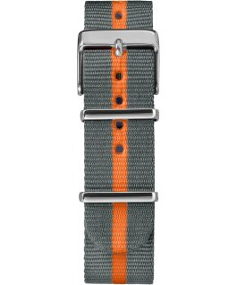 Weekender Stripe 38mm Nylon Strap Watch Silver-Tone/Gray large