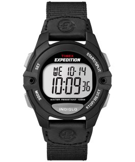 Expedition Chrono-Alarm-Timer 41mm Nylon Strap Watch Black large