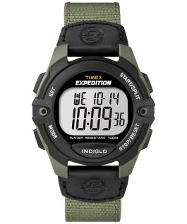 Expedition Chrono-Alarm-Timer 41mm Nylon Strap Watch Green/Black large