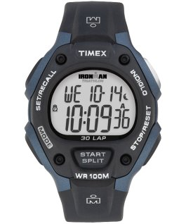 IRONMAN Classic 30 Full-Size 38mm Resin Strap Watch Blue/Black large