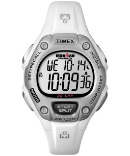IRONMAN Classic 30 Mid-Size 34mm Resin Watch White/Silver-Tone large