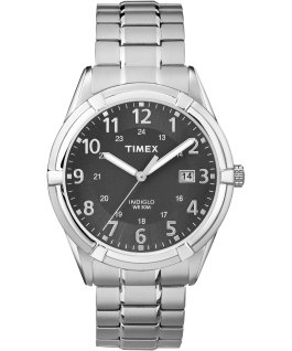 Easton Avenue 39mm Stainless Steel Watch Silver-Tone/Black large