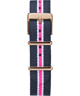 Fairfield 37mm grande, bracelet en nylon ton or rose/bleu/blanc