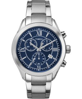 Miami Chronograph Mens 38mm Stainless Steel Watch Silver-Tone/Blue large