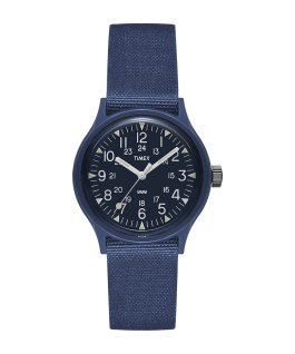 MK1 36mm Military inspired Grosgrain Strap Watch  large