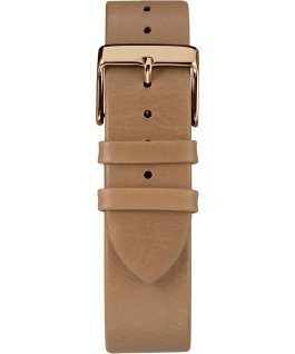 Fairfield 41 mm, grande, bracelet en cuir ton or rose/havane/naturel