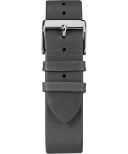 Fairfield 41 mm, grande, bracelet en cuir chrome/noir/blanc
