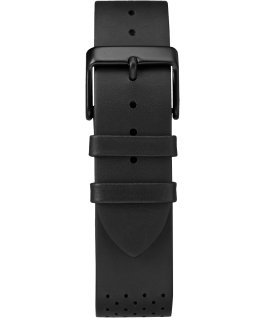 Fairfield Chronographe 41mm, grande, bracelet en cuir noir
