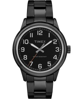 New England 40mm Stainless Steel Watch Black large