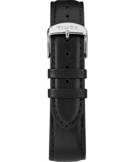 Fairfield Sub-Second 41mm Leather Watch Silver-Tone/Black/White large