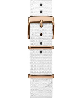 Fairfield Crystal 37mm Fabric Strap Watch Rose-Gold-Tone/White large