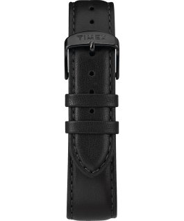 Metropolitan Mens 40mm Leather Watch Black large