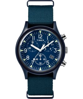 MK1 Aluminum Chronograph 40mm Fabric Watch Blue large