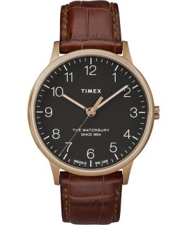Waterbury-40mm-Classic-Leather-Croco-Strap-Watch Brown-White large