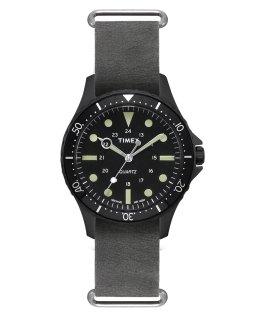 Navi Harbor 38mm Stonewashed Leather Strap Watch  large