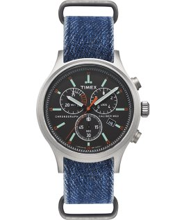 Allied Chronograph 42 mm con cinturino in denim   large