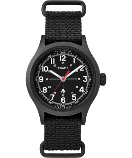 Timex x Todd Snyder Military Inspired 40mm Fabric Strap Watch Black/Green large
