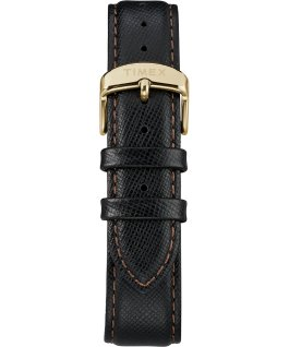 Torrington Mens 40mm Leather Strap Watch Gold-Tone/Black large