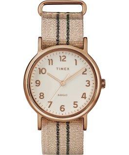 Weekender 38mm Metallic Stripe Fabric Watch Rose-Gold-Tone/Pink/Cream large