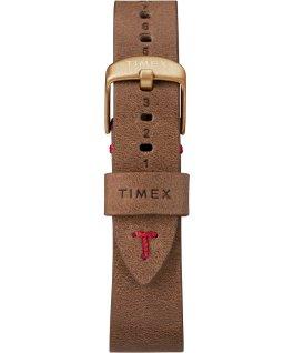 Zegarek MK1 ze stalową kopertą 40 mm i skórzanym paskiem Metaliczny brąz/Brązowy/Czarny large