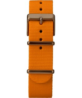 MK1 Aluminum 40mm Fabric Strap Watch Green/Orange/Black large