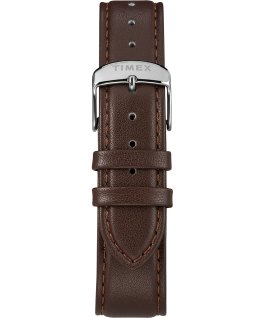 Fairfield Chronograph 41mm Leather Strap Watch Silver-Tone/Brown/Black/Rose-Gold-Tone large