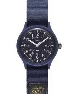 MK1 Military mit Ripsband-Armband, 36 mm Blau large
