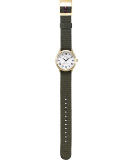 Whitney Avenue 36mm Reversible Grosgrain Strap Watch-1 Gold-Tone/White large