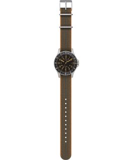 Navi Ocean 38mm Elastic Fabric Strap Watch Stainless-Steel/Black large
