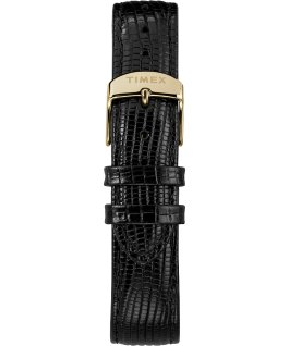 Reloj Marlin de 34 mm de cuerda manual con correa de cuero Black/Gold-Tone large