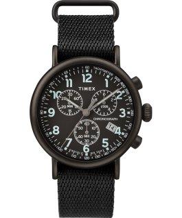 Reloj cronógrafo Standard de 41mm con correa de tela Negro large
