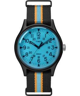 MK1 California 40mm Fabric Strap Watch Black/Blue large