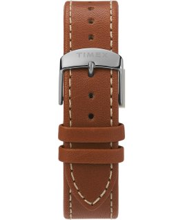 Waterbury 40mm Classic Leather Strap Watch Stainless-Steel/Tan/White large
