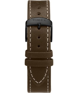 Waterbury Classic Chronograph 40mm Leather Strap Watch Black/Brown/Olive large