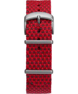 Allied Coastline 43 mm con cinturino in tessuto e ghiera girevole Silver/Rosso/Nero large
