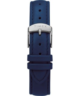 Fairfield Chronograph 41mm Leather Strap Watch Silver-Tone/Blue/White large