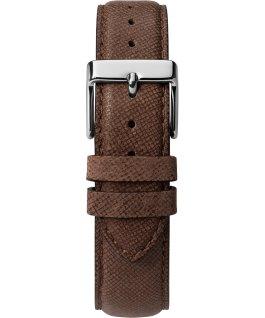 Southview 41mm, grande, bracelet en cuir ton argent/brun/bleu