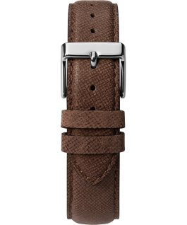 Southview Multifunction 41mm Leather Watch Silver-Tone/Brown/Black large
