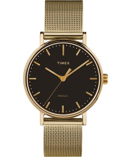 Fairfield 37mm Mesh Stainless Steel Watch Gold-Tone/Black large
