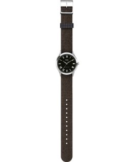 Whitney Avenue 38mm Reversible Fabric Strap Watch Stainless-Steel/Black large