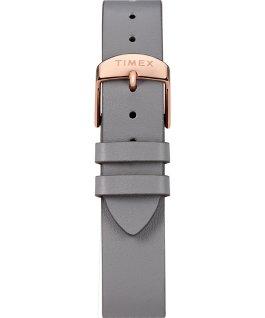 Transcend Zubehörarmband aus Leder, 38 mm Roségoldfarben/grau/weiß large