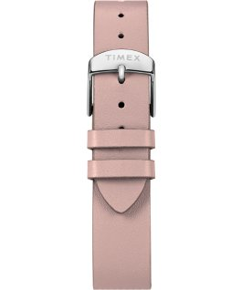 Transcend 38mm Leather Accessory Strap Watch Silver-Tone/Pink/White large
