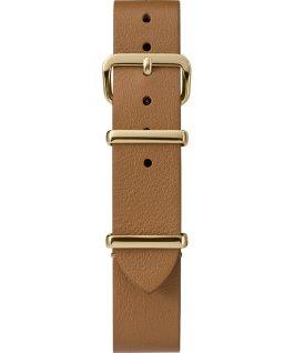 Cinturino slip-thru in pelle strato singolo da 16mm oro Cuoio large