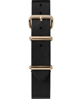 Einlagiges Zugarmband aus Leder, goldfarben, 16mm Schwarz large